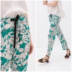 Zara Floral Teal Pants